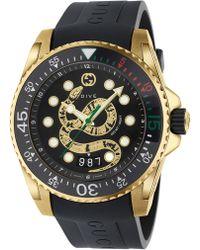 3df9dfe479e Lyst - Gucci Gold Medium G-timeless Snake Watch in Metallic for Men