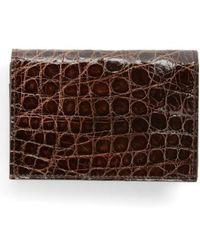 Boconi - Crocodile Card Case - Lyst