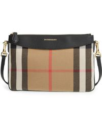 Lyst - Burberry The Medium Buckle Bag In House Check And Textured ... a73d0082ce