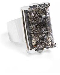 Anna Sheffield - 'eshel' Rutilated Quartz & Champagne Diamond Ring - Lyst