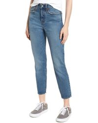 Levi's - Wedgie Icon Fit High Waist Ankle Jeans - Lyst