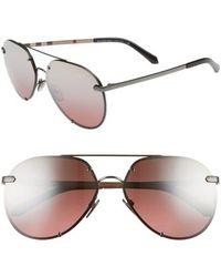 f003bf32e9a Burberry - Trench 61mm Aviator Sunglasses - Plum Gradient Mirror - Lyst
