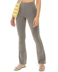 TOPSHOP - Metallic Stripe Pull-on Trousers - Lyst