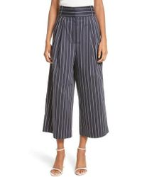 Tibi - Bianca Stripe Crop Pants - Lyst