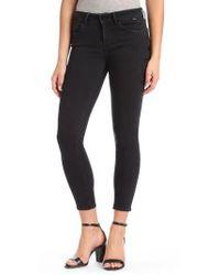 Mavi Jeans - Adriana Super Skinny Smoke Black Star Jeans - Lyst