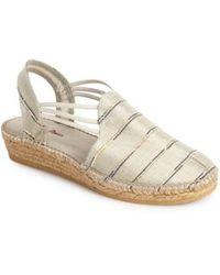 Toni Pons - 'nantes' Silk Stripe Sandal - Lyst
