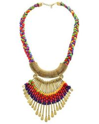 Panacea - Fan Collar Necklace - Lyst