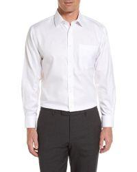 Nordstrom - Smartcare(tm) Traditional Fit Herringbone Dress Shirt - Lyst