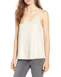 BISHOP AND YOUNG - Bishop + Young Micro Stud Faux Suede Camisole - Lyst