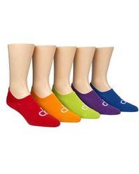 Calvin Klein - Pride 5-pack No-show Socks - Lyst