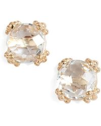 Anzie - Dewdrop White Topaz Stud Earrings - Lyst