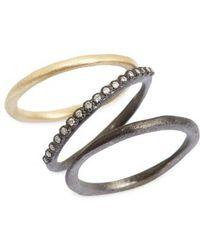 Armenta - Old World Diamond Stacking Rings (set Of 3) - Lyst