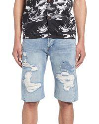 Levi's - Lej Distressed Cut-off Denim Shorts - Lyst