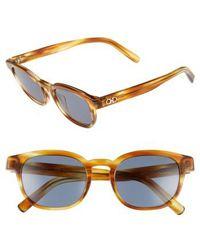 Ferragamo - 866s 50mm Sunglasses - Striped Brown - Lyst