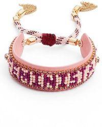 Rebecca Minkoff - Feminista Friendship Bracelet - Lyst
