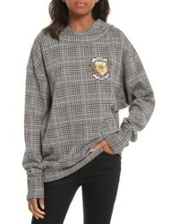 Tracy Reese - Embellished Plaid Hoodie - Lyst
