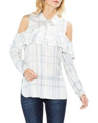 Two By Vince Camuto - Cold Shoulder Ruffle Top - Lyst