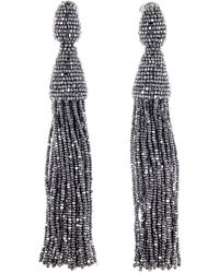 Oscar de la Renta - Long Tassel Drop Clip Earrings - Lyst