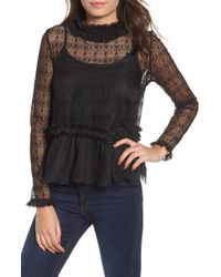 Kendall + Kylie - Victorian Lace Top - Lyst
