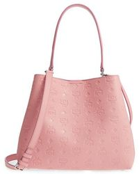 MCM - Sara Leather Convertible Hobo - Lyst