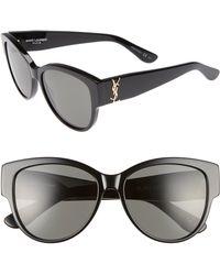Saint Laurent - 55mm Cat Eye Sunglasses - Lyst