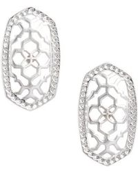 Kendra Scott | Ellie Oval Stud Earrings | Lyst