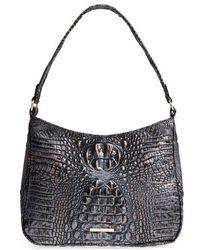 Brahmin - Nadia Croc Embossed Leather Shoulder Bag - - Lyst