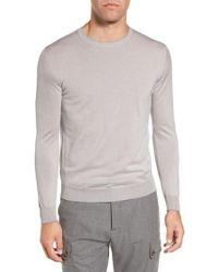 Eleventy - Merino Wool & Silk Tipped Sweater - Lyst
