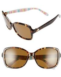Kate Spade - 'ayleen' 56mm Polarized Sunglasses - - Lyst