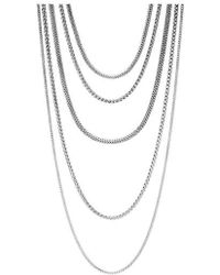 John Hardy - Classic Chain Five Strand Necklace - Lyst
