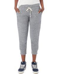 Alternative Apparel - Eco Crop Jogger Lounge Pants - Lyst