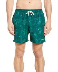 Barbour - Tropical Print Swim Trunks - Lyst