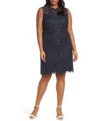 Eliza J - Lace Sheath Dress - Lyst
