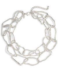 Tasha - Organic Shaped Metal Necklace - Lyst