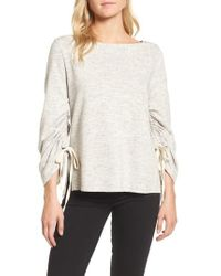 Ella Moss | Ruched Sleeve Sweatshirt | Lyst
