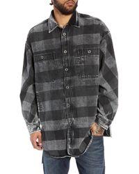 DIESEL - Diesel D-loren Longline Denim Shirt Jacket - Lyst