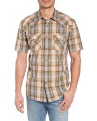 Pendleton - Frontier Regular Fit Plaid Short Sleeve Sport Shirt - Lyst