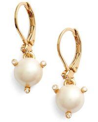 Kate Spade - 'rise And Shine' Faux Pearl Lever Back Earrings - Lyst