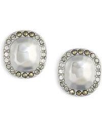 Judith Jack - Jewel Stud Earrings - Lyst