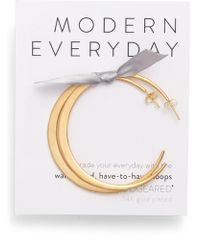 Dogeared - Modern Everyday Have To Have Hoop Earrings - Lyst