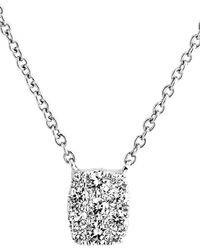 Bony Levy - Mika Mini Rectangle Pave Diamond Pendant Necklace (nordstrom Exclusive) - Lyst