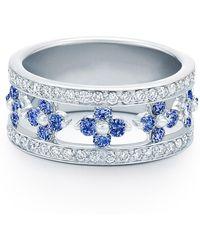 Kwiat - Jasmine Sapphire & Diamond Band Ring - Lyst