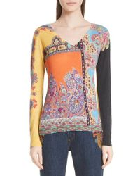 Etro - Harlem Paisley Silk & Cashmere Sweater - Lyst