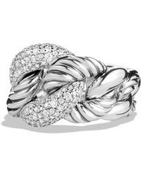 David Yurman - 'belmont' Ring With Diamonds - Lyst