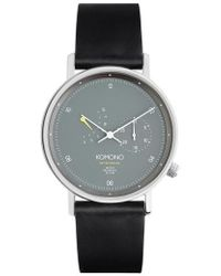 Komono - Walther Retrograde Chronograph Leather Strap Watch - Lyst