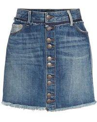 True Religion | Deconstructed Denim Skirt | Lyst