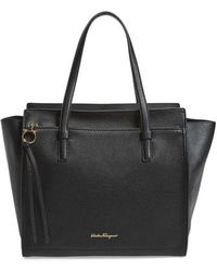 Ferragamo - 'fill Up - Large' Leather Tote - Lyst