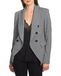 1.STATE - Puppytooth Double Breasted Jacket - Lyst