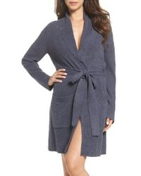 Barefoot Dreams - Barefoot Dreams Cozychic Lite Short Robe - Lyst