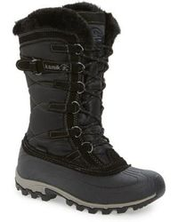 Kamik - Snowvalley Waterproof Boot With Faux Fur Cuff - Lyst